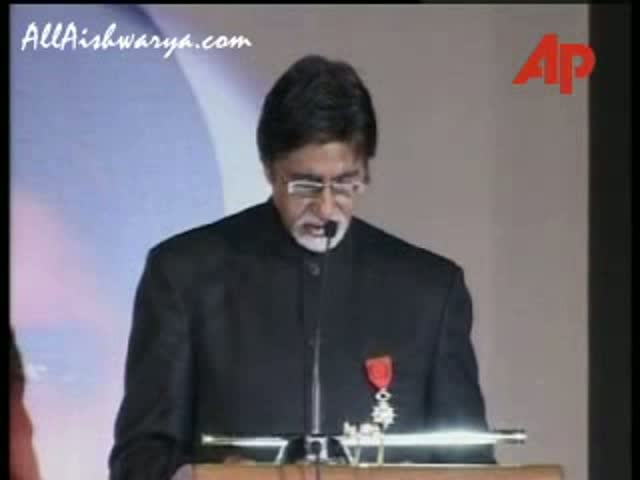 2007 - Amitabh Bachchan given French Honor